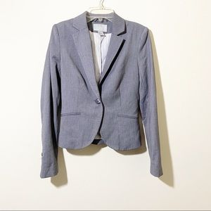 H&M Gray Fitted Blazer Size 4